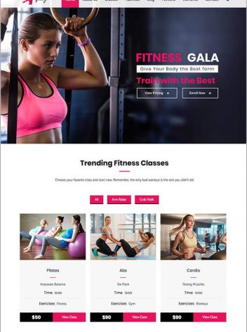 Fitness Website Portfolio